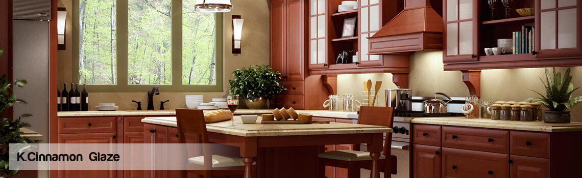 The K Series From Forevermark Cabinetry Is Available In Cherry Glaze,  Cinnamon Glaze, Honey And Espresso.